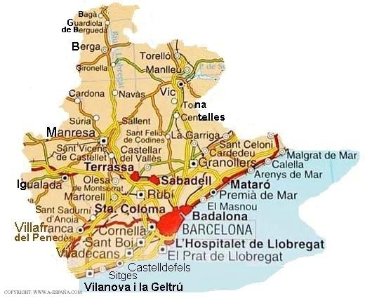 Mapa de Barcelona