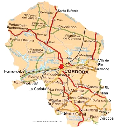 Mapa Provincia De Cordoba España.Cordoba Espana Mapa Detraiteurvannederland